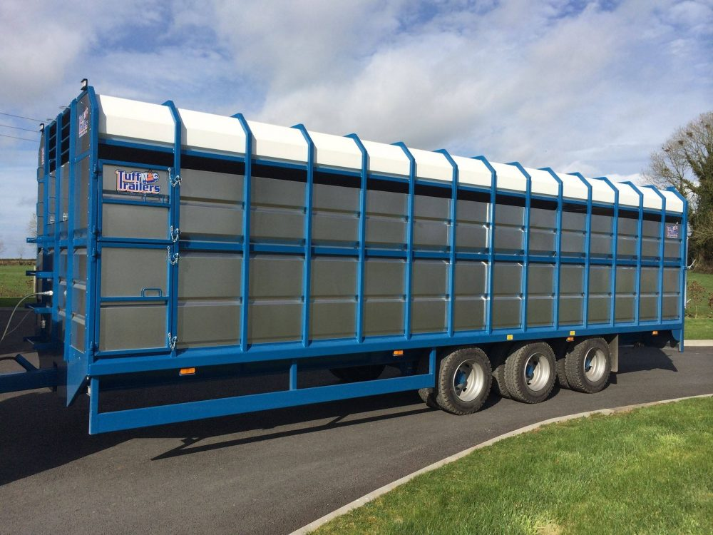 Tractor Trailer Stock : New tuffmac tri axel livestock peter hosey trailers